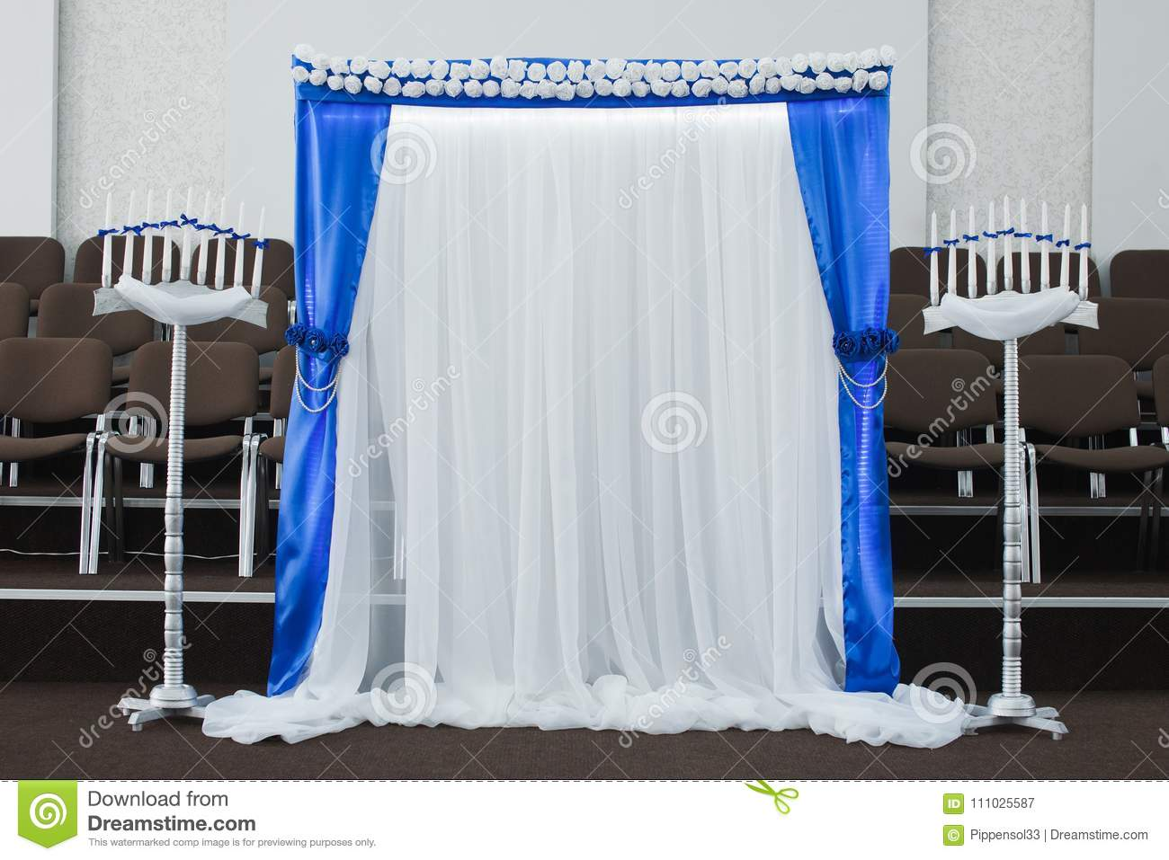Wedding Decoration In A Church Stock Image - Image of ceremony ...