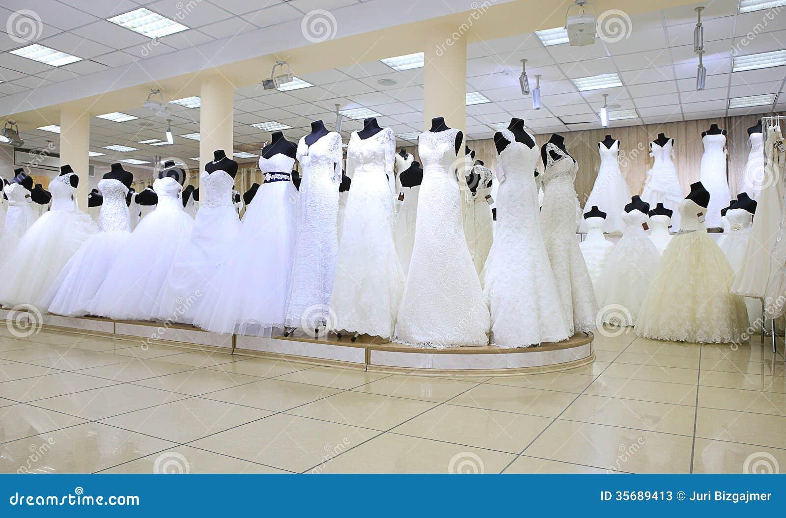 Wedding white dresses stock photos image 35689413 for Wedding dress shopping gift