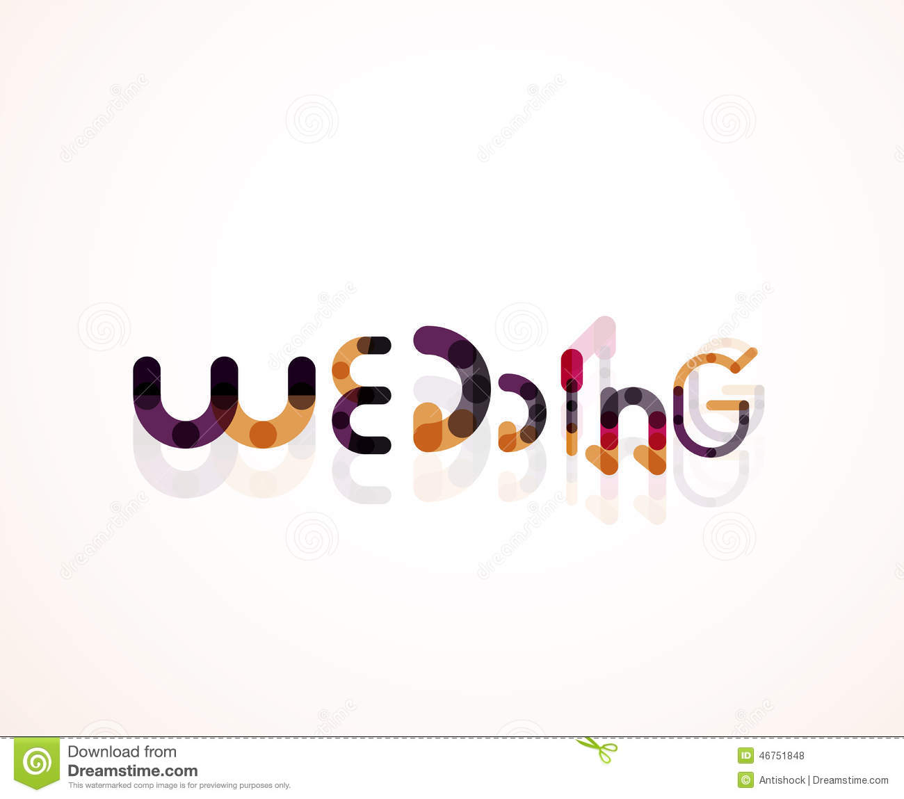 Wedding word font concept design stock vector Word font styles
