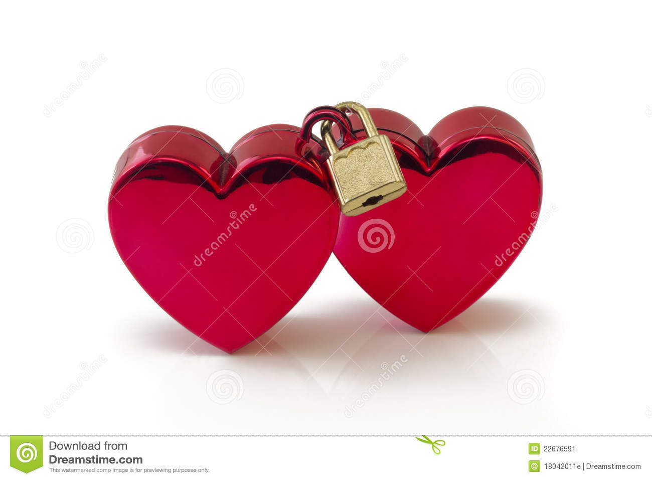 wedlocked two hearts locked on white stock image image of metal