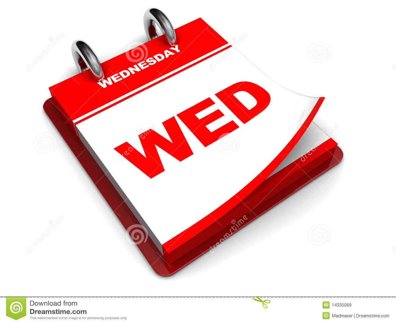 Wednesday Calendar Royalty Free Stock Images - Image: 14335069