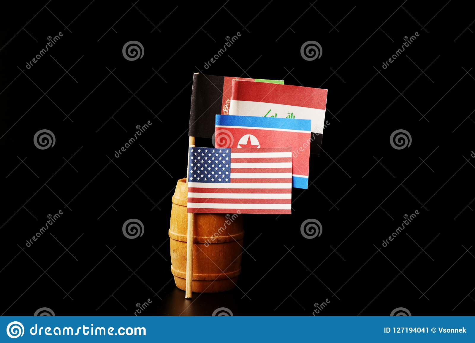 Wee see flags of states where america using their soldiers. Afghanistan, Iraq and North Korea where it is on edge.