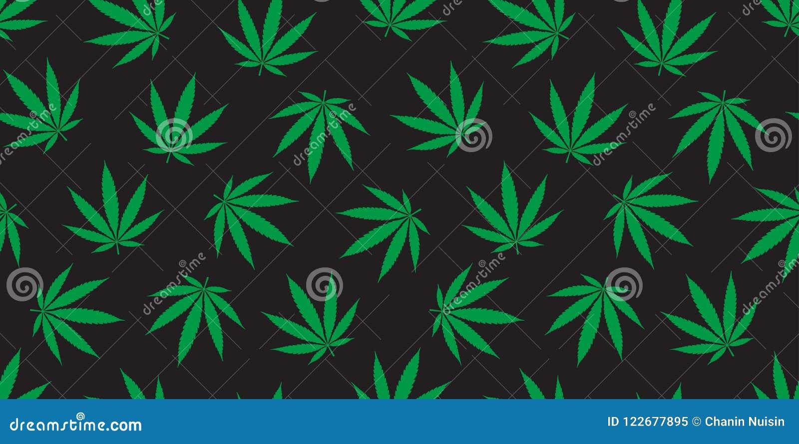 Weed Seamless Pattern Marijuana Cannabis Leaf Wallpaper