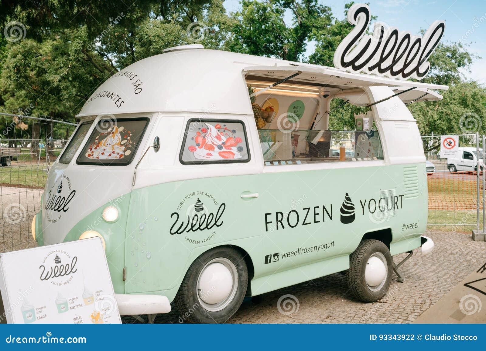 frozen yogurt vans