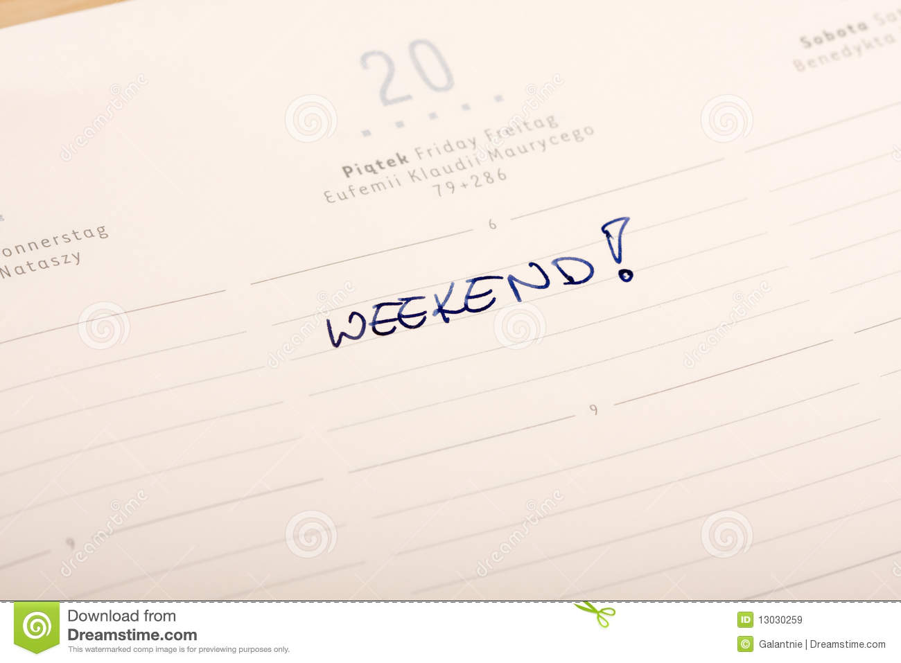 Weekend Royalty Free Stock Images - Image: 13030259