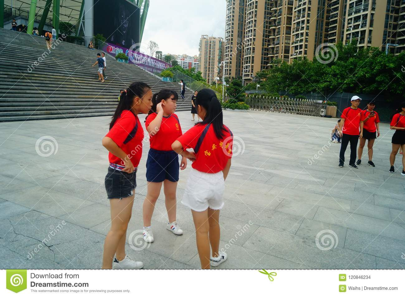 Shenzhen, China: Weekend Entertainment, Women Dance And