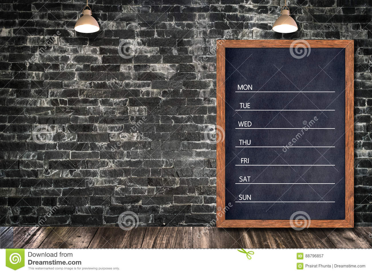 weekly chalkboard calendar  blackboard sign menu for