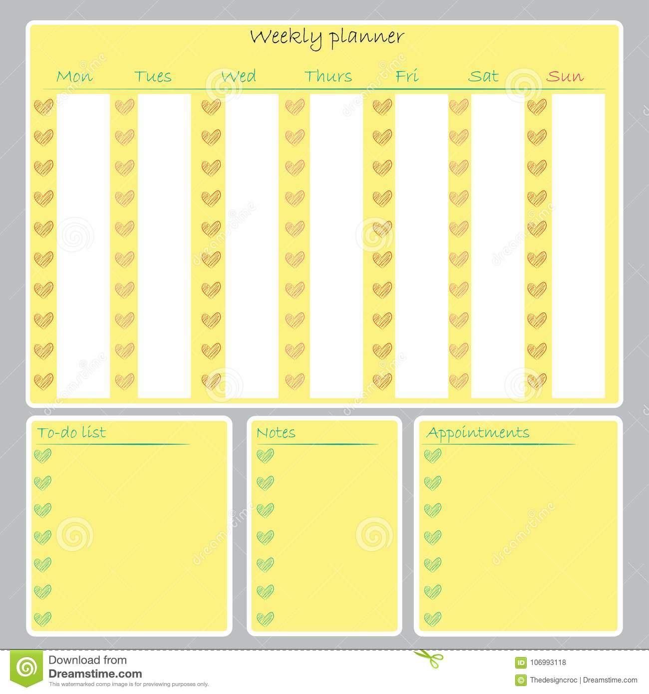 graphic regarding Weekly to Do List Printable known as Weekly Planner Organizer Towards-do Checklist Notes Calendar Printable
