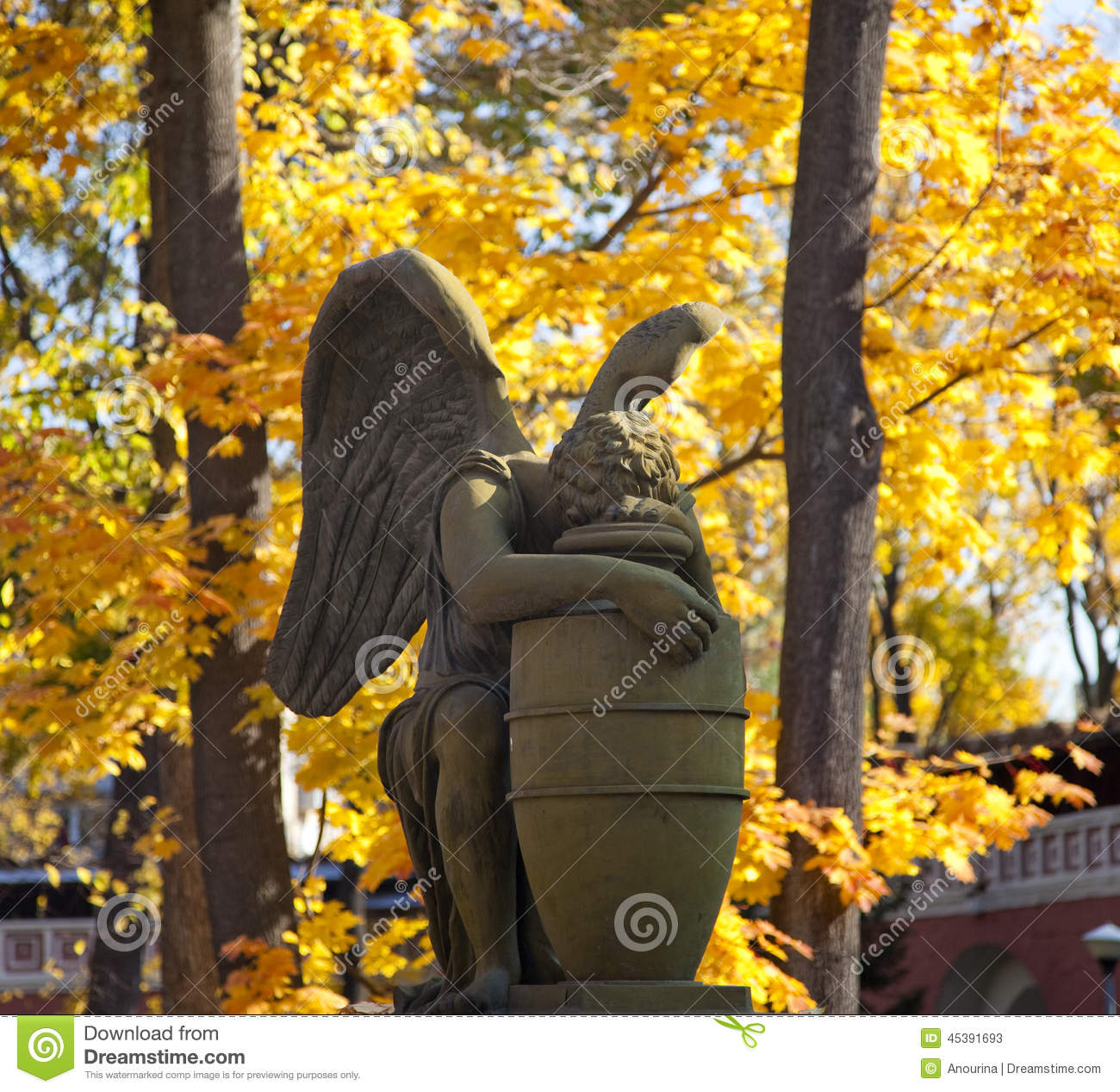 Weeping Angel at autumn