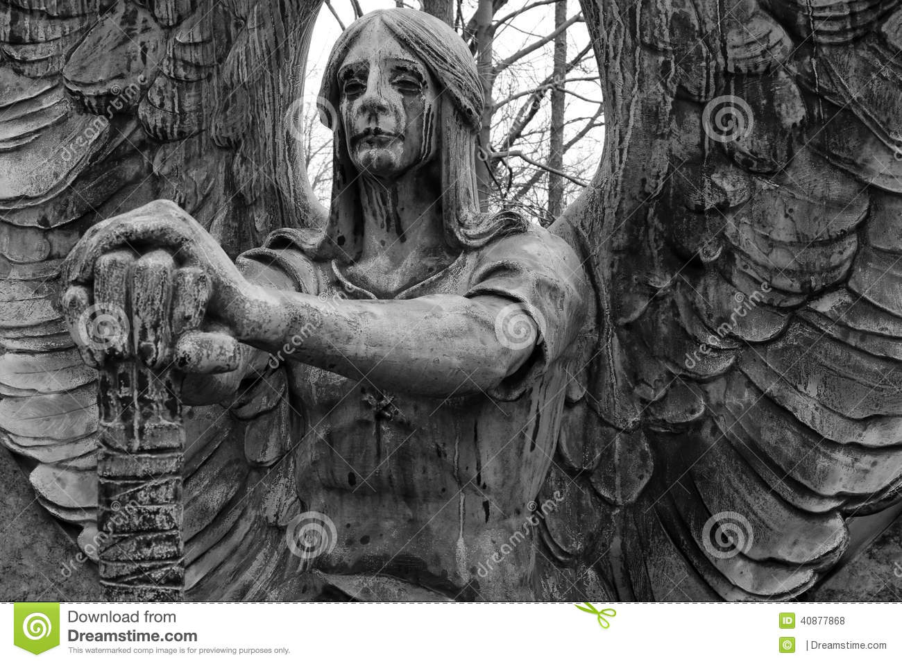 Weeping Angel Stock Photo - Image: 40877868