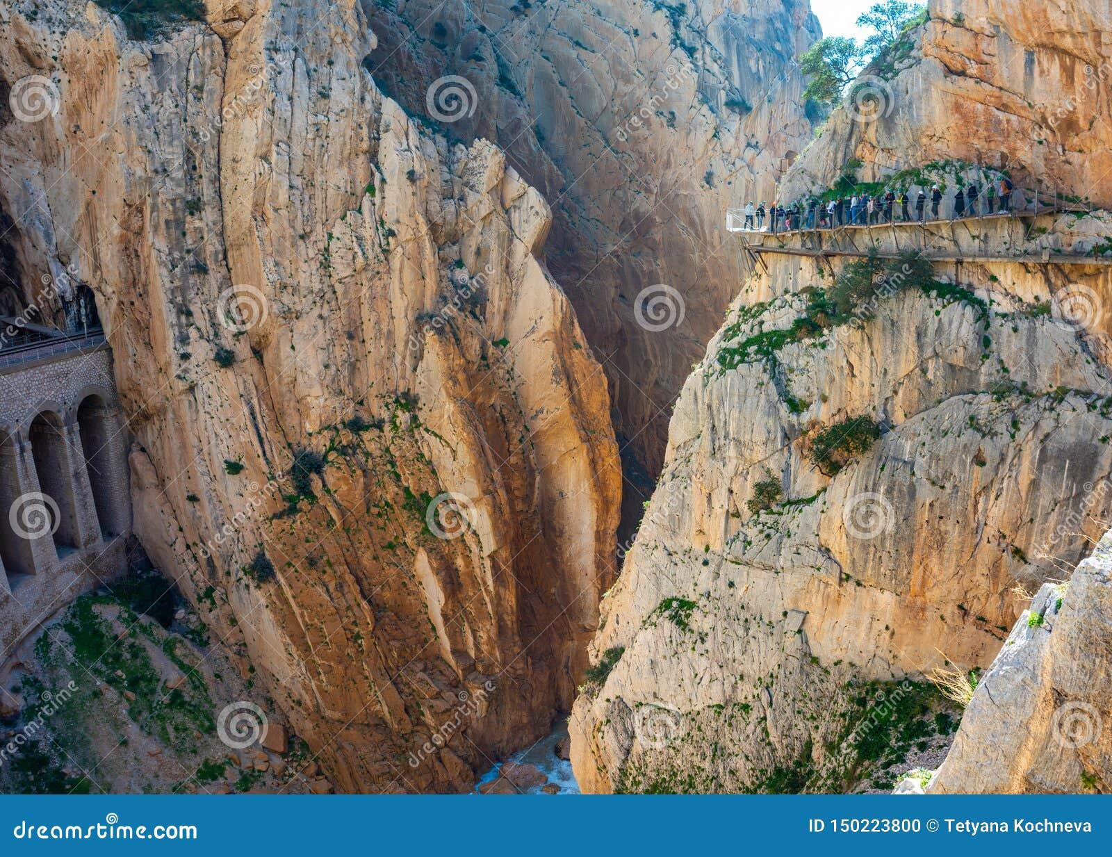 Weergeven van de toeristische attractie Malaga, Spanje van Gr Caminito del Rey