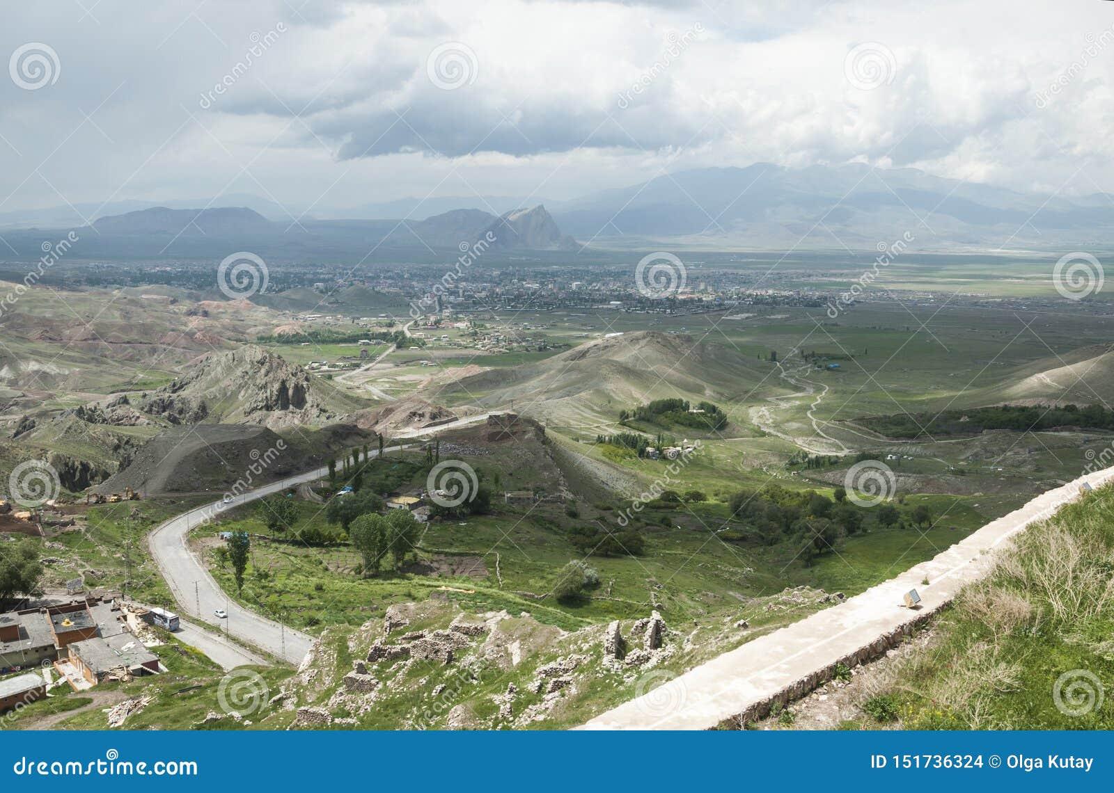 Weergeven van de vallei van oostelijk Anatolië