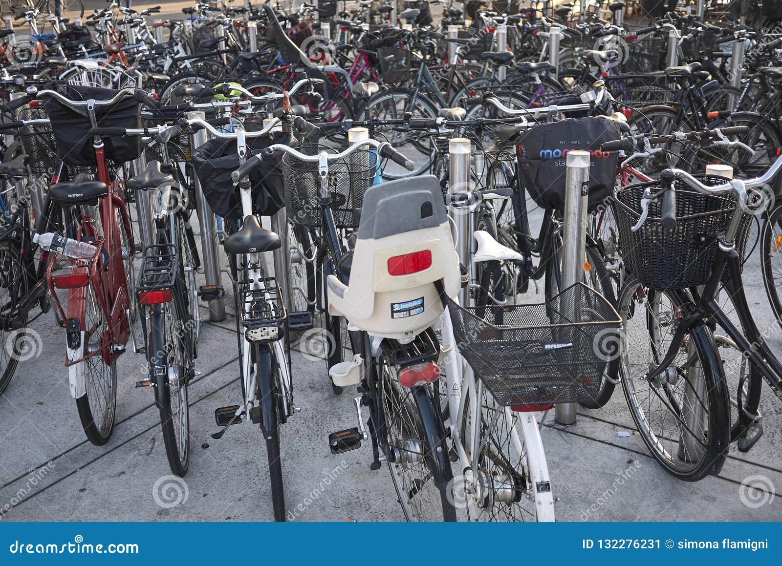 Weergeven van een fietsparkeren