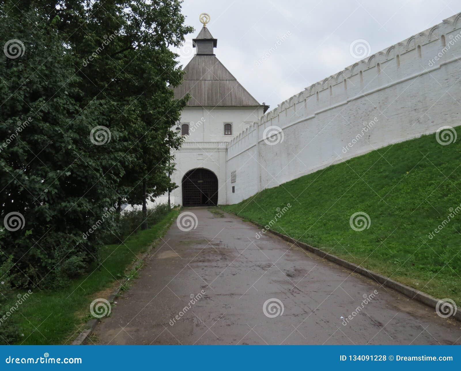 Weergeven van Kazan het Kremlin Kazan, Rusland