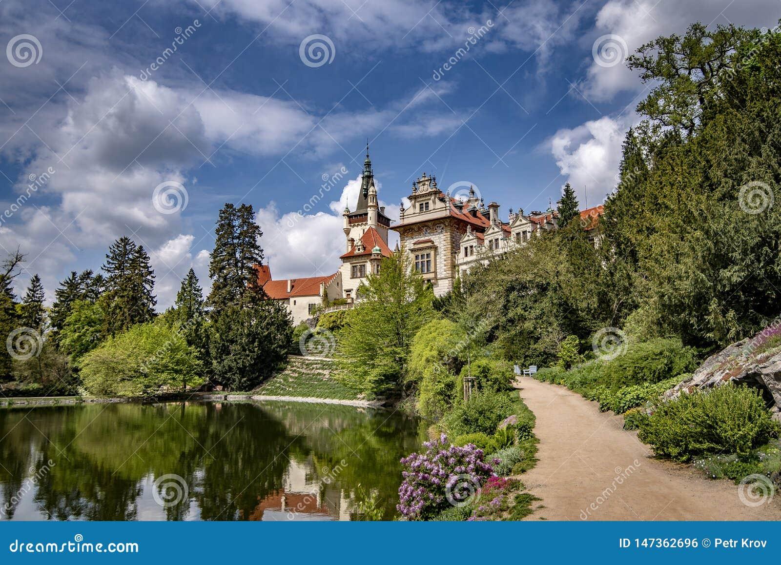 Weergeven van Pruhonice-Kasteel Tsjechische Republiek