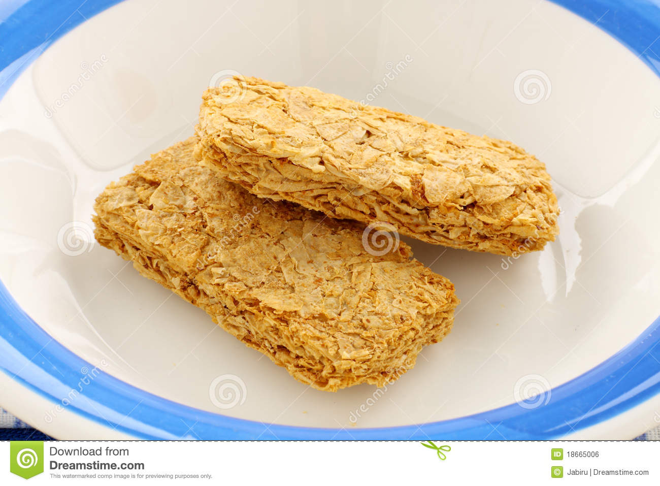 Iconic Australian breakfast cereal Weet Bix served in a bowl.