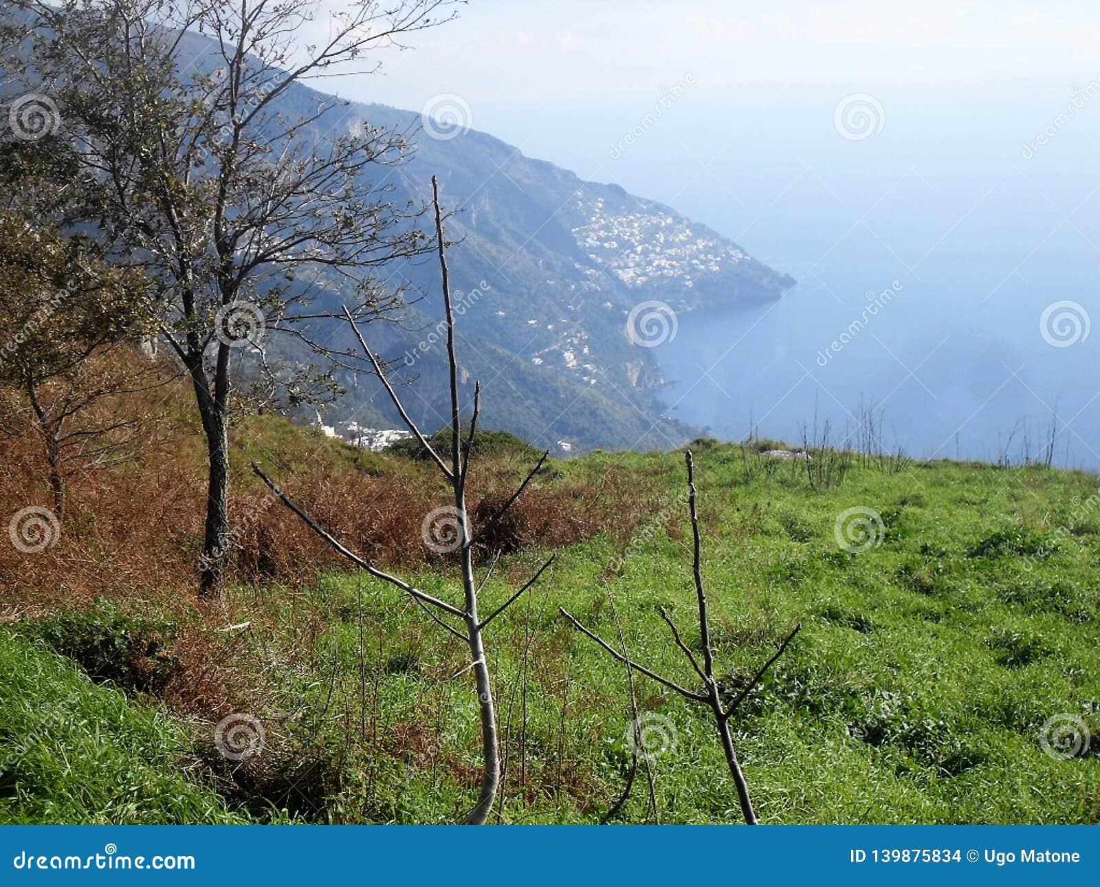 Weg der Götter in der Seifenlösung Italien