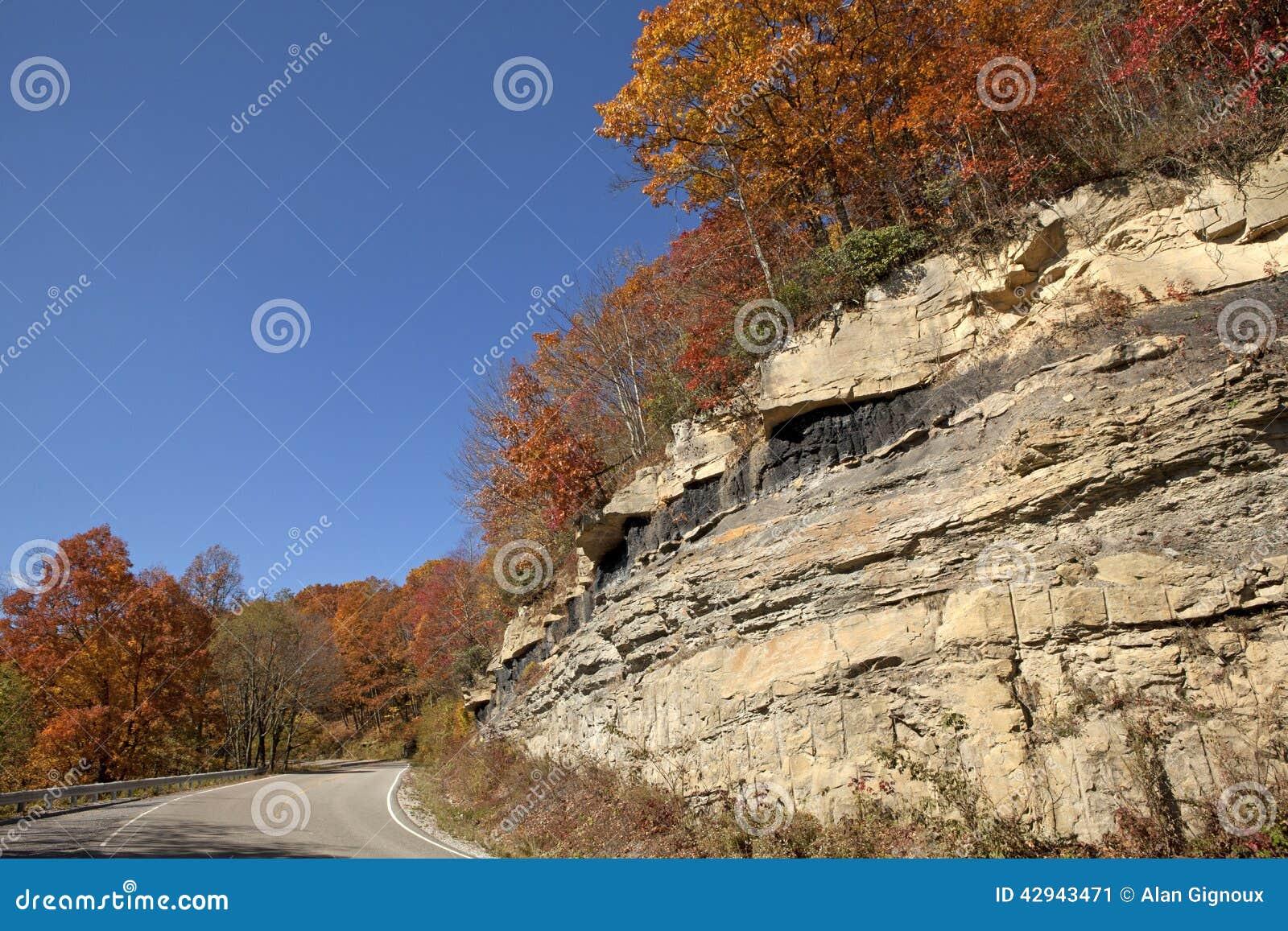 Weg door bergen Appalachia