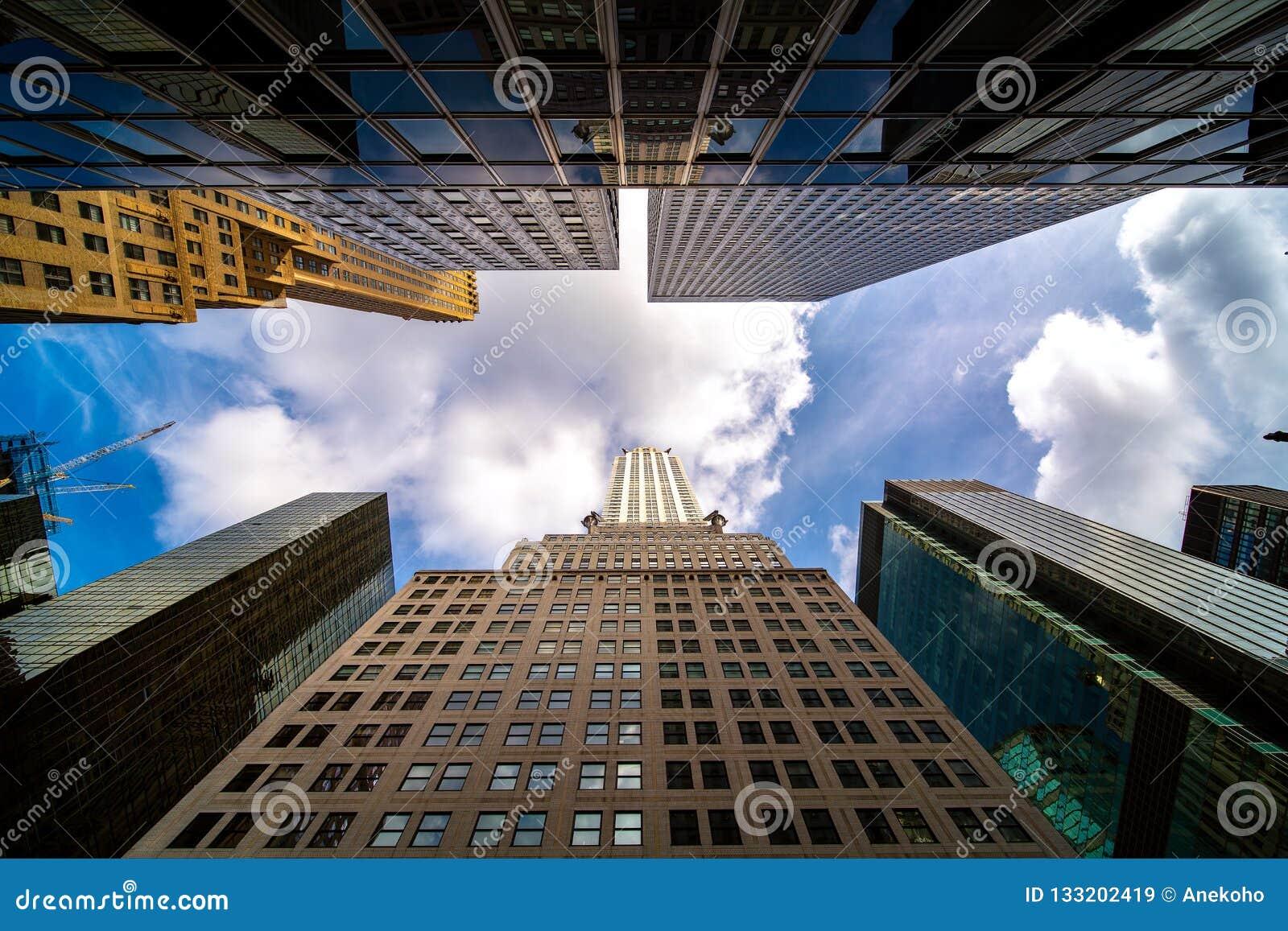 Weg en het inbouwen van de stad van New York