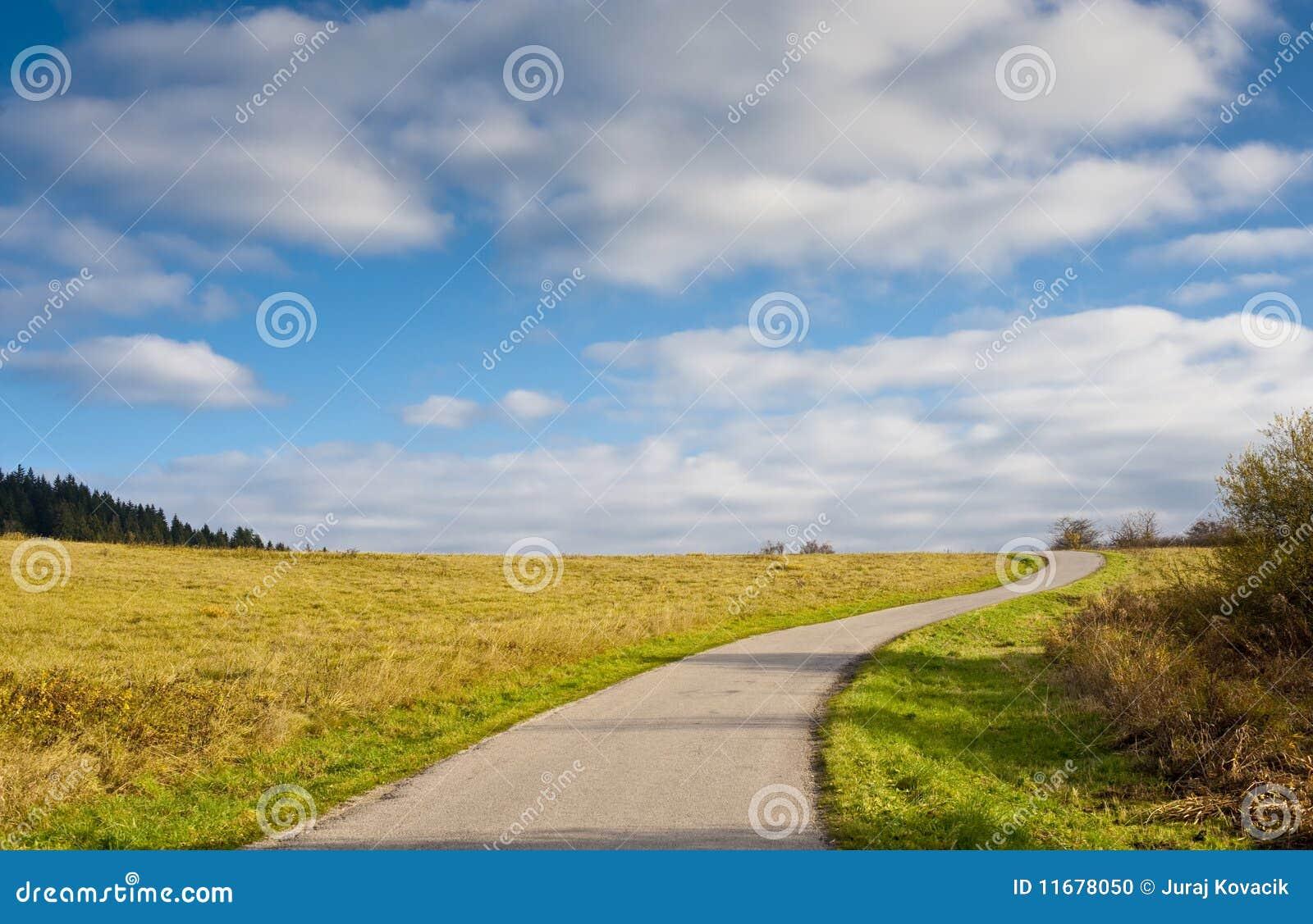Weg en horizon