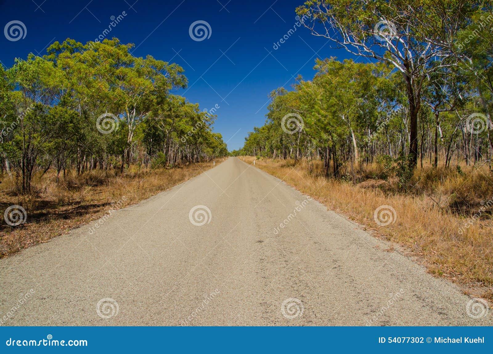Weg in het Binnenland, Qld australië
