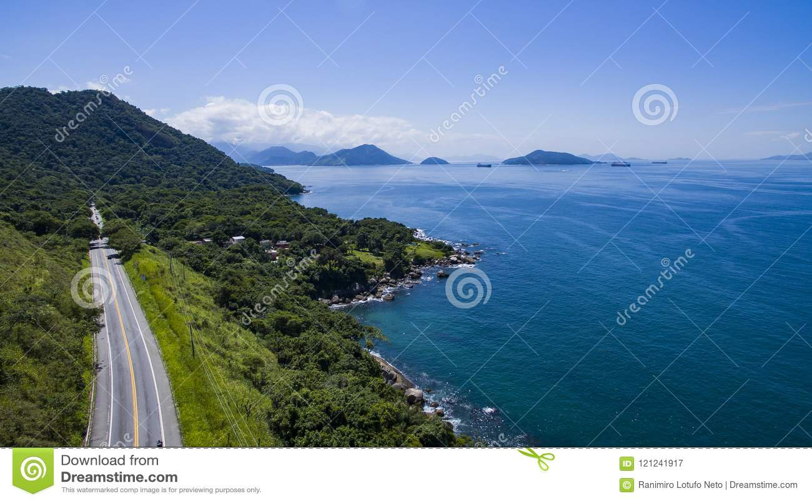 Weg langs het overzees, Dos Reis van wegangra aan Rio de Janeiro