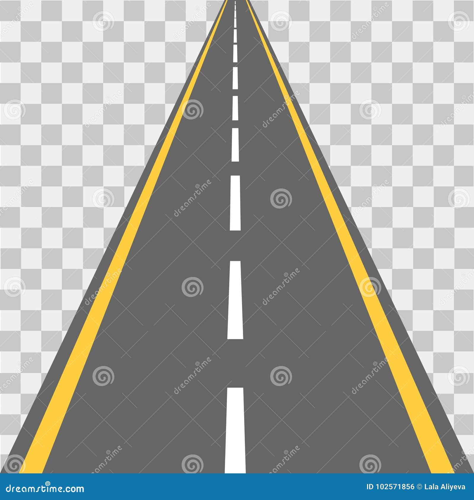 Weg, straat met asfalt weg Vector illustratie