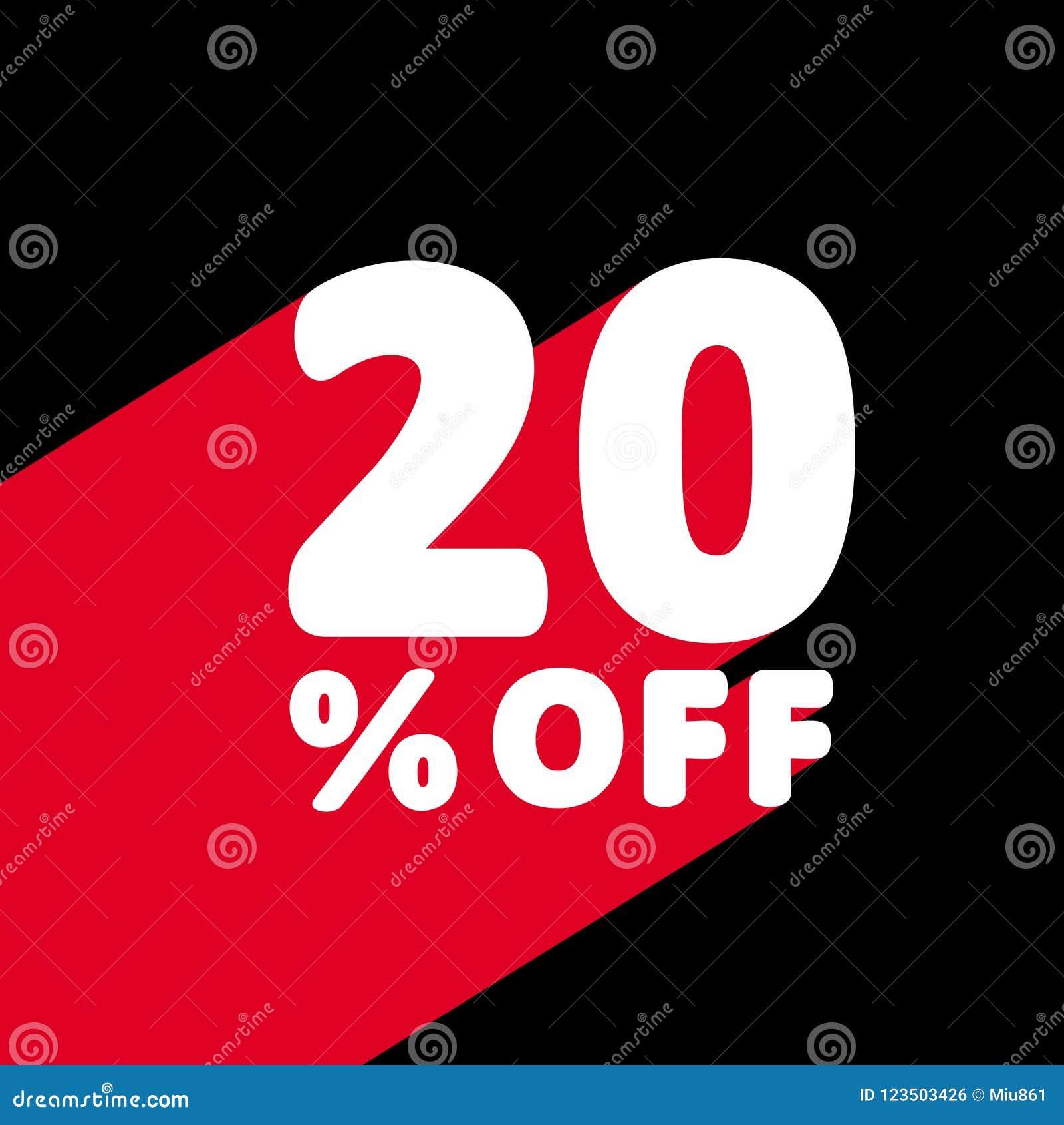 20  weg vom Rabatt Rabatt-Angebots-Preis-Illustration