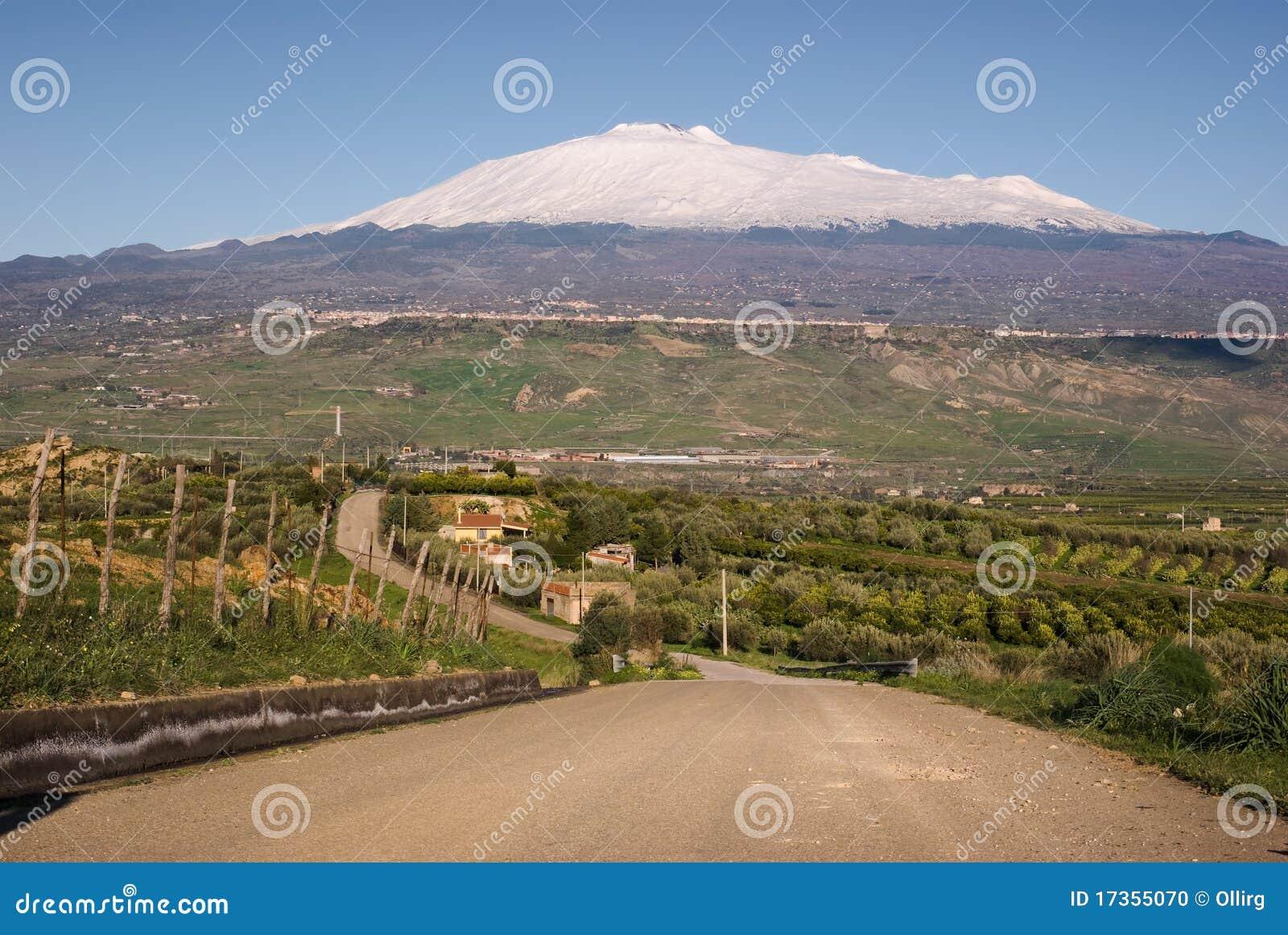Weg voor onderstel Etna