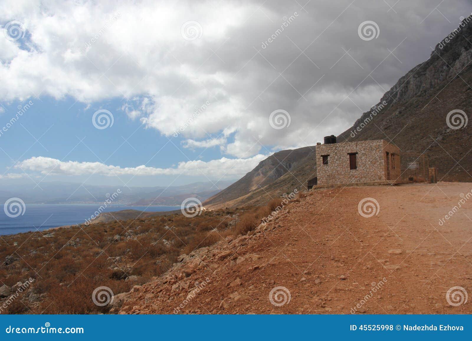 Weg zur schönen Bucht von Balos in Kreta
