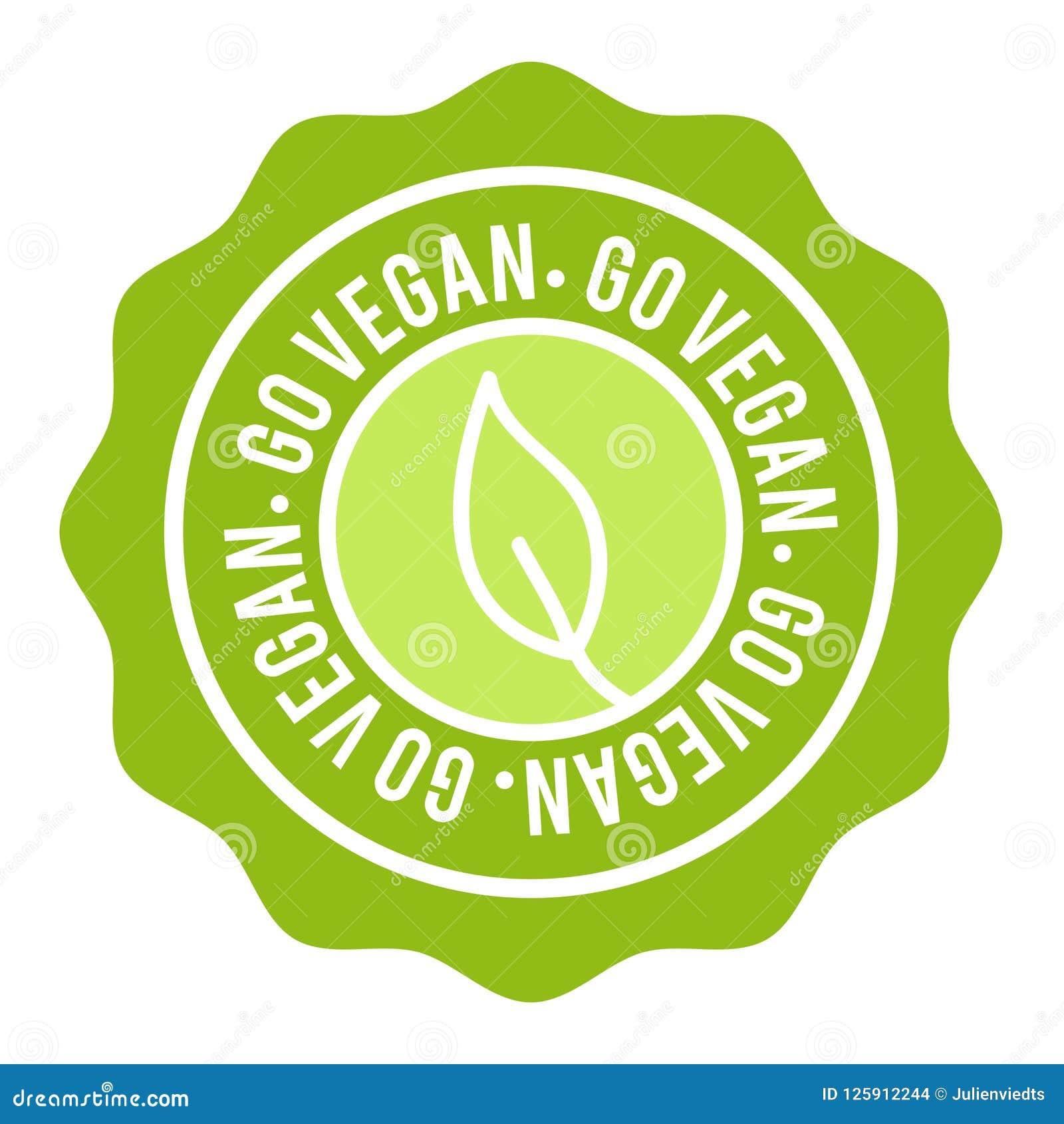 Weganinu guzik odznaka idzie weganin Eps10 wektoru sztandar