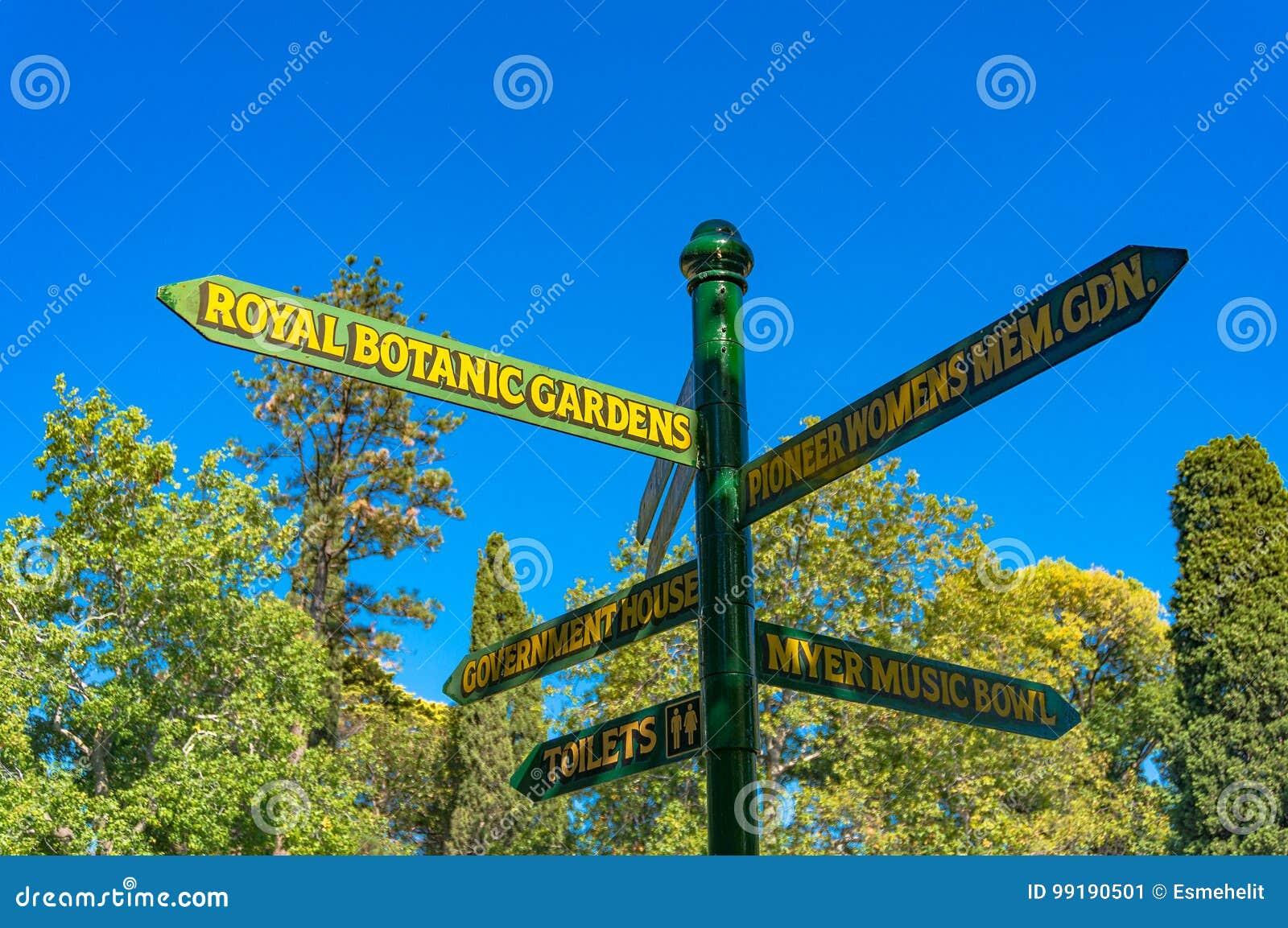 Wegweiser Herein Konigliche Botanische Garten Melbournes