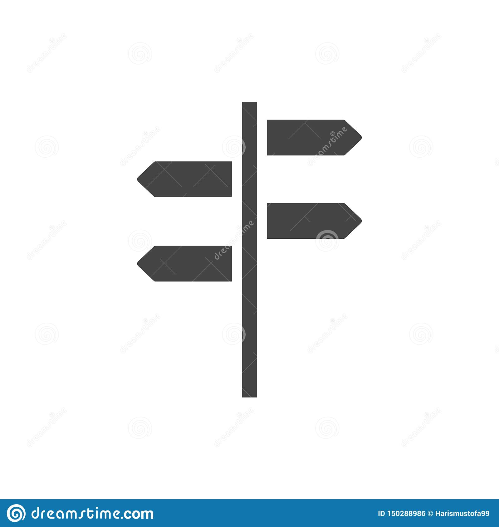 Wegweiserikonengrafikdesign-Schablonenvektor