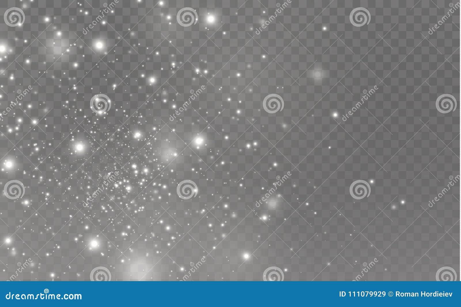 Weiß Funkt Und Spezieller Lichteffekt Des Goldenen Sternfunkelns ...