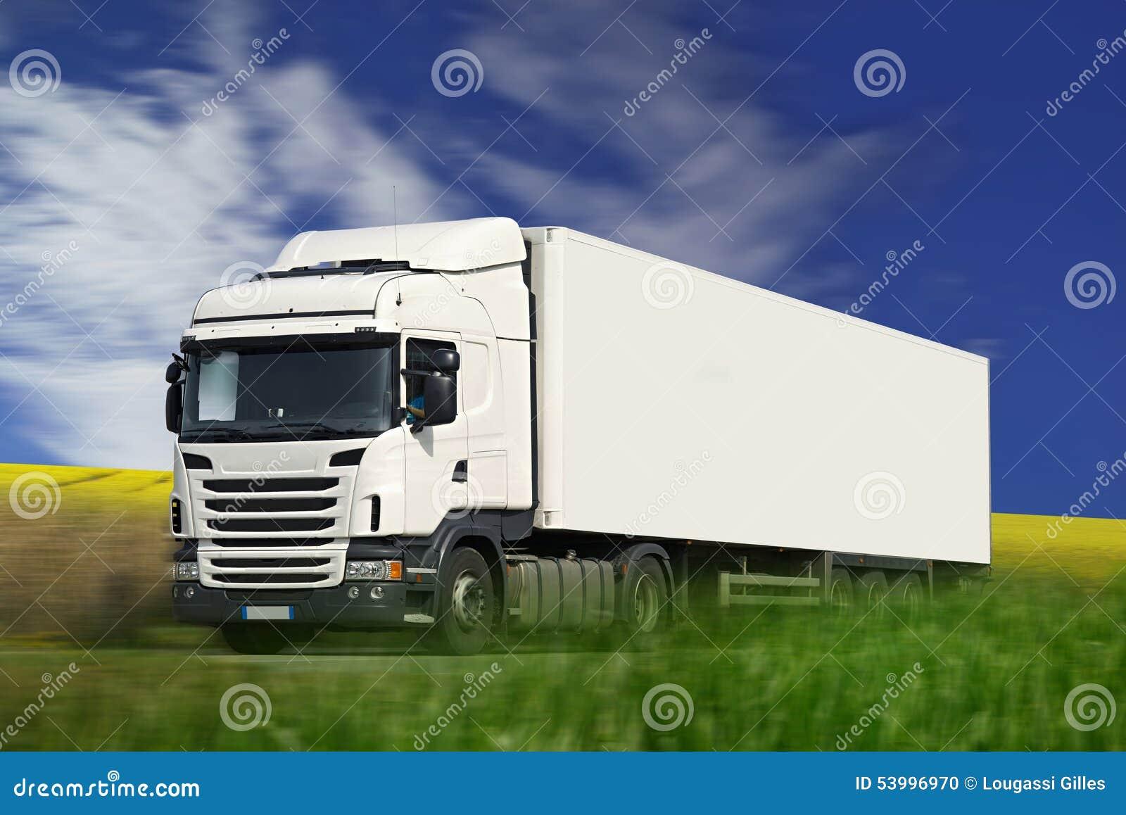 Weiß-halb LKW