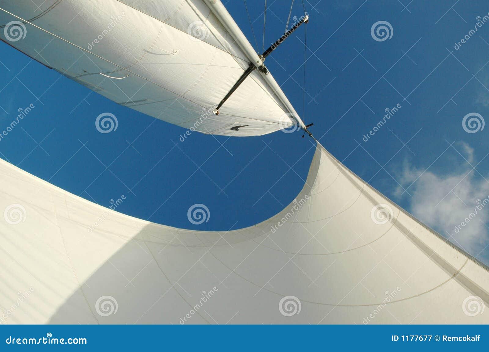 Weiß segelt frow unten