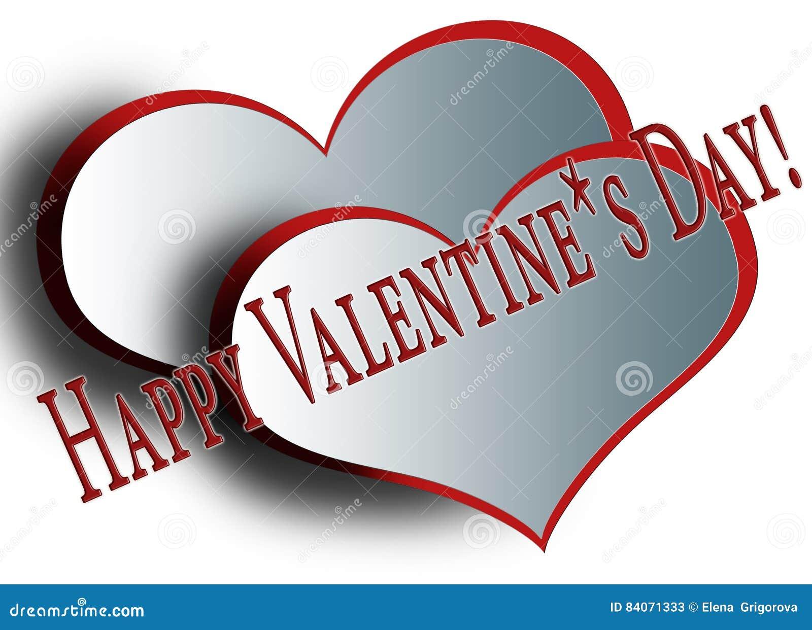 Weiß Zwei Mit Rote Herzen Ohne Hintergrund Stock Abbildung