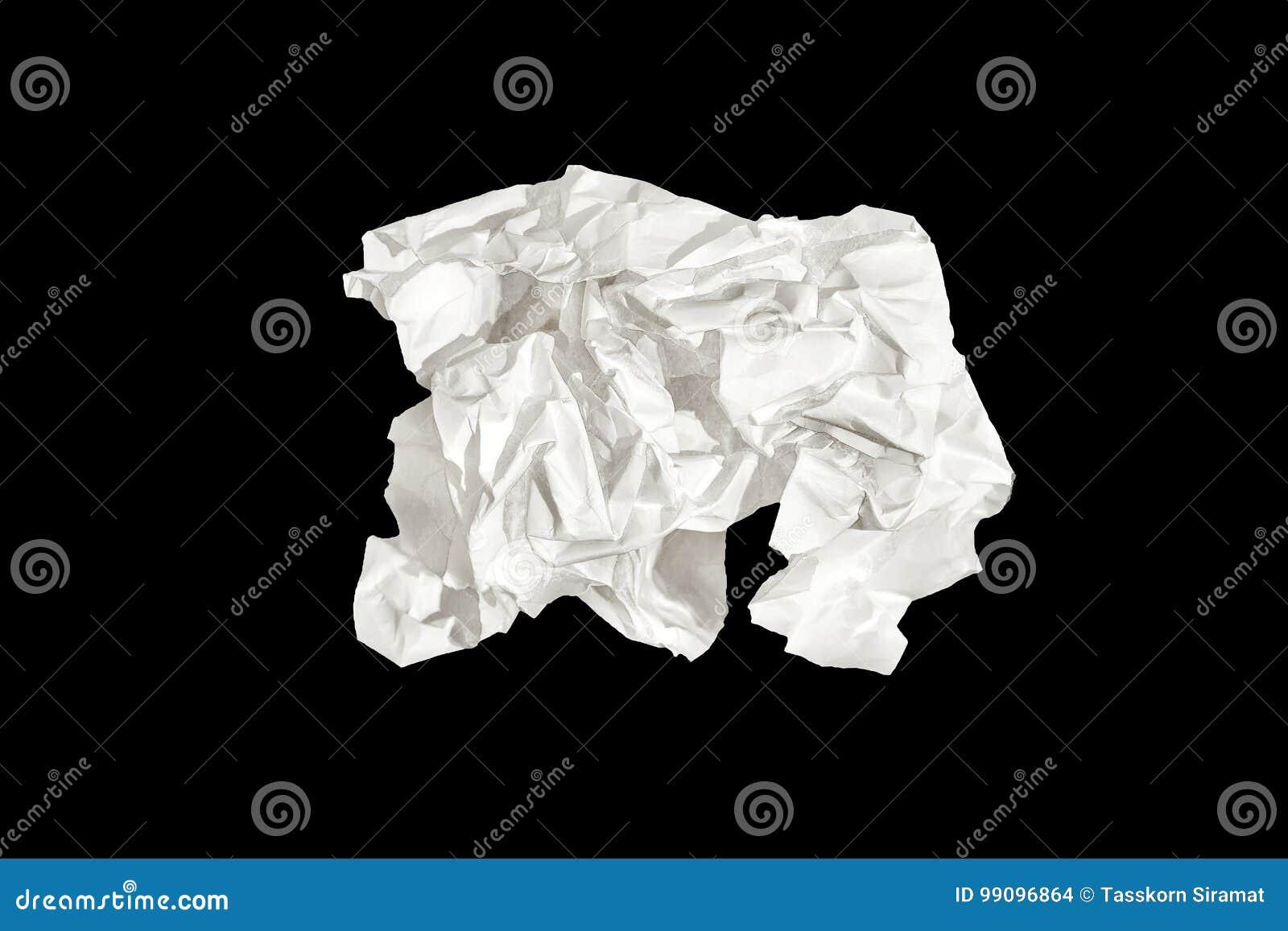 Weißbuch lokalisiert auf schwarzem Hintergrund