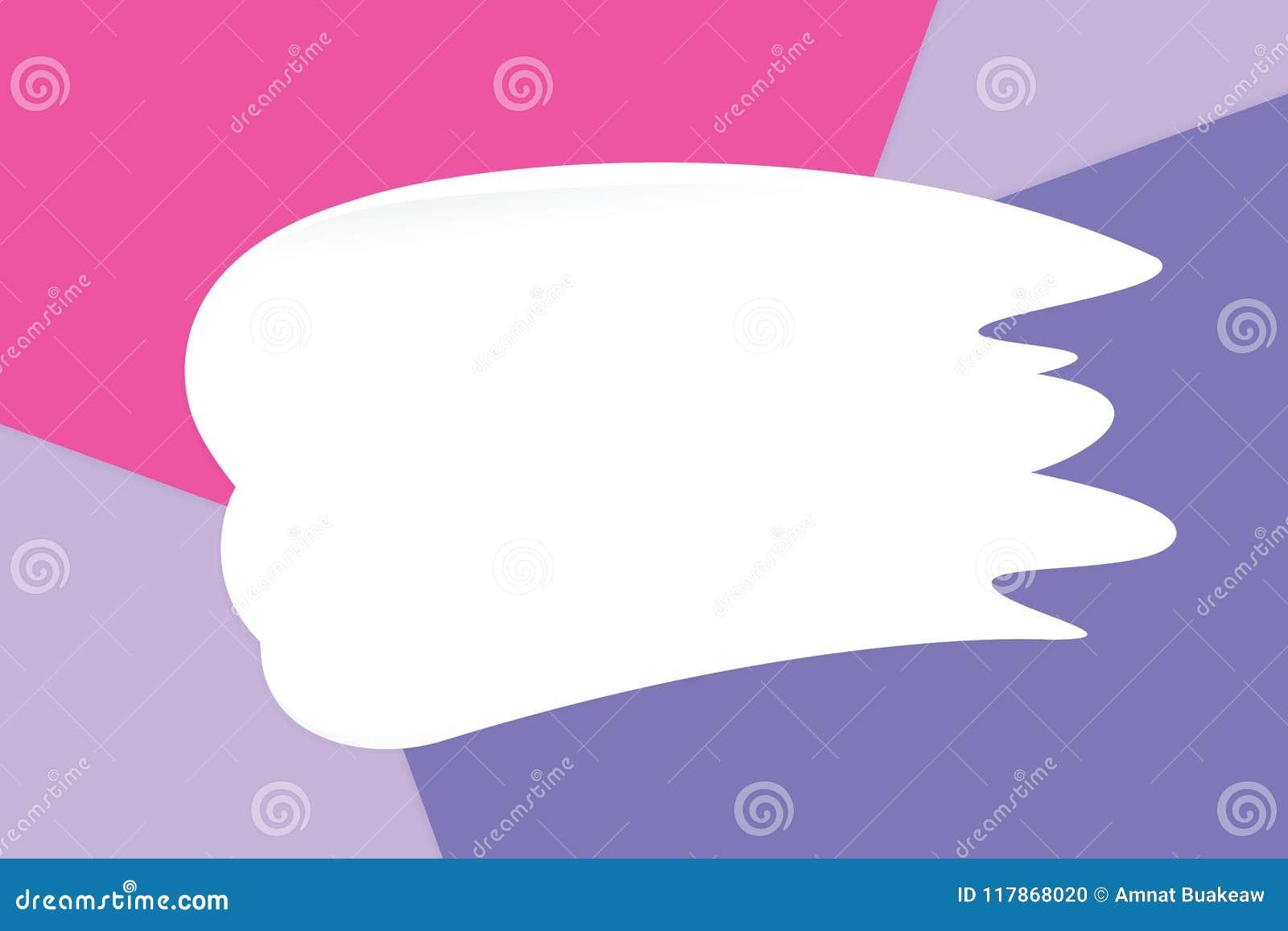 Weiße Abstrichcreme auf bunten weichen Papierhintergrundpastellkosmetik für Kopie sperren Mitteilung, minimale Ebenenlageart