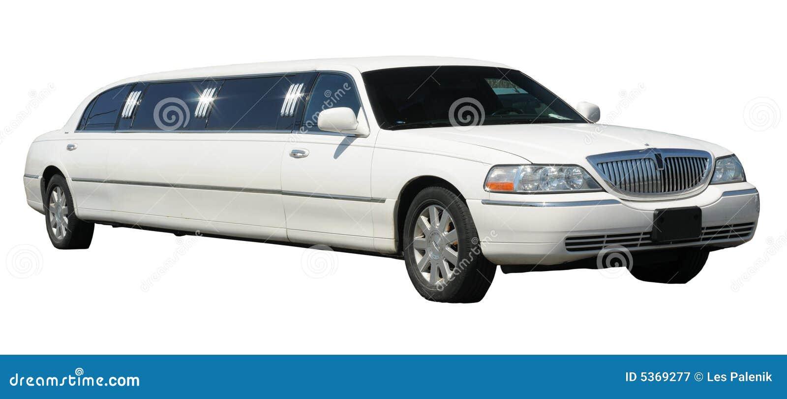 Weiße ausgedehnte Limousine