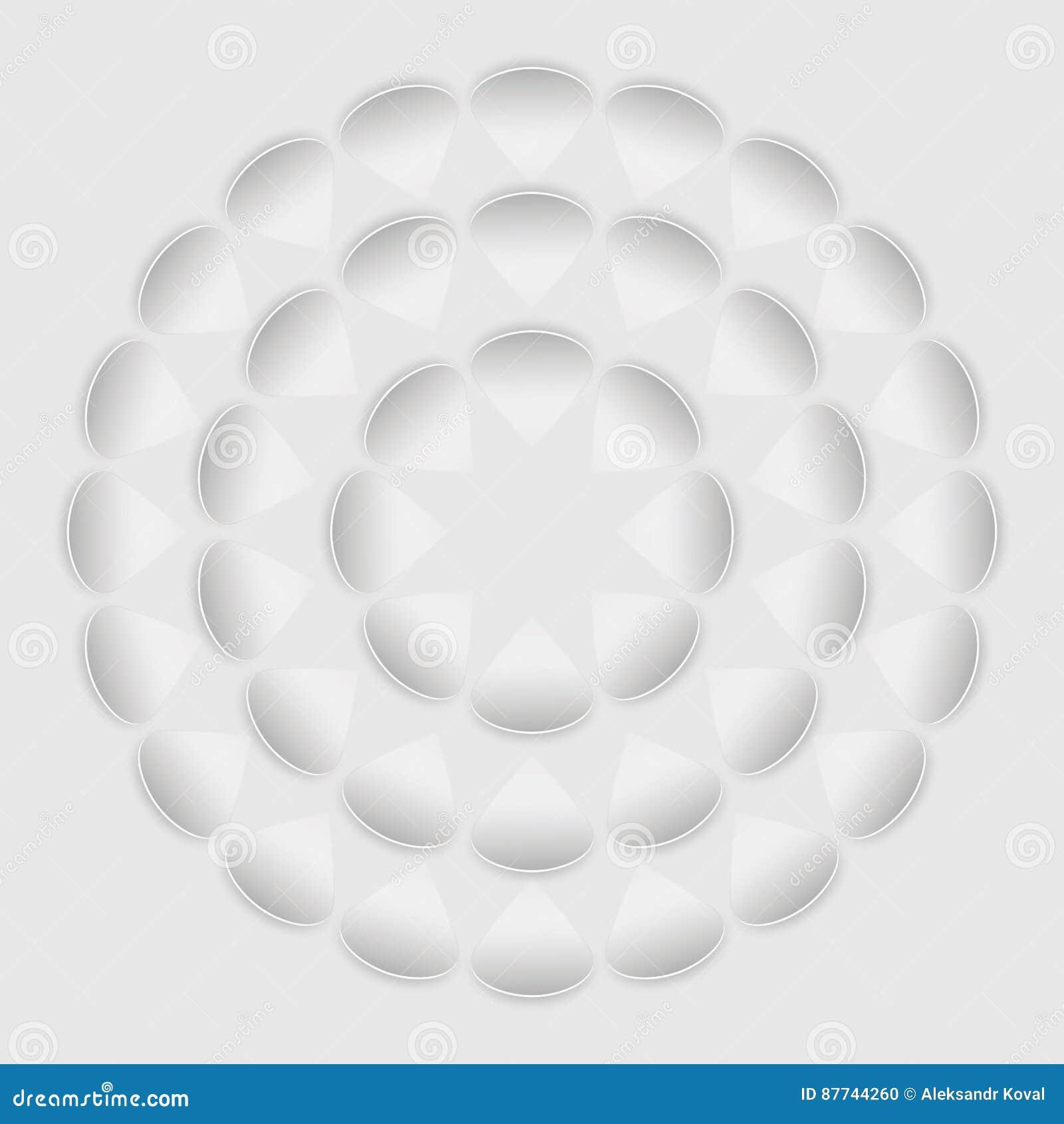 Weiße Blume des Musters