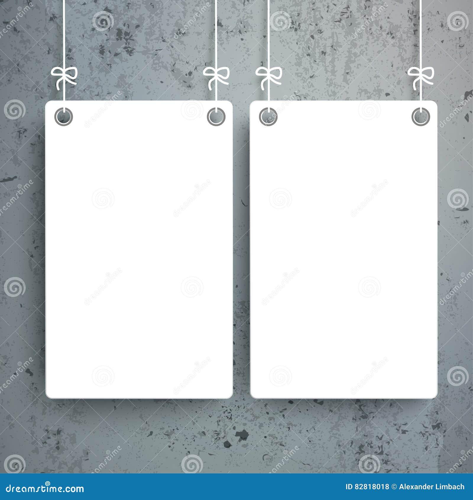2 weiße Bretter konkret