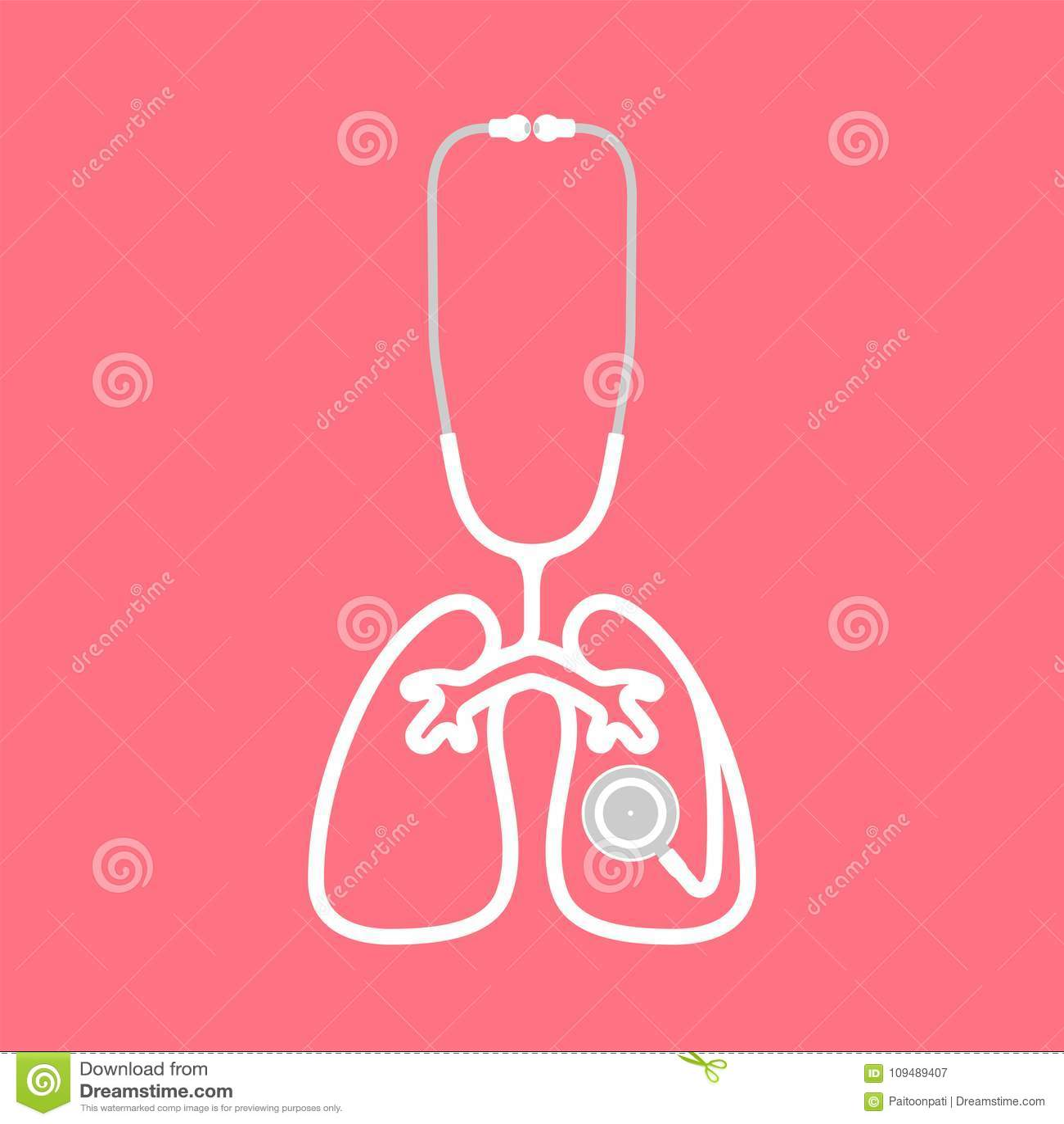 wei e farbe und lunge des stethoskops unterzeichnen die symbolform die vom fahrerhaus gemacht. Black Bedroom Furniture Sets. Home Design Ideas