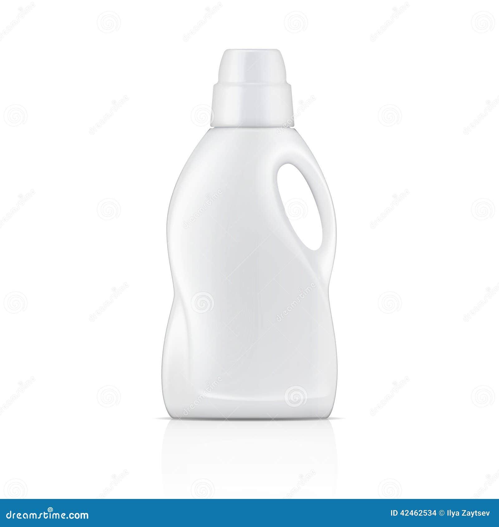 Weiße Flasche für Flüssigwaschmittel