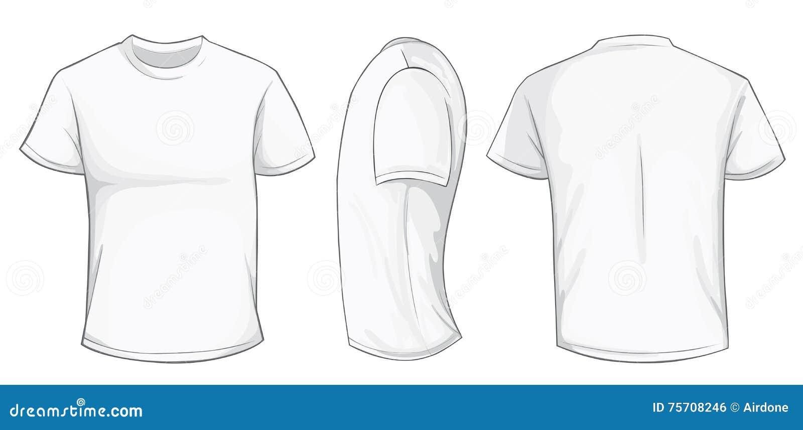 Weiße Hemd-Schablone vektor abbildung. Illustration von becken ...