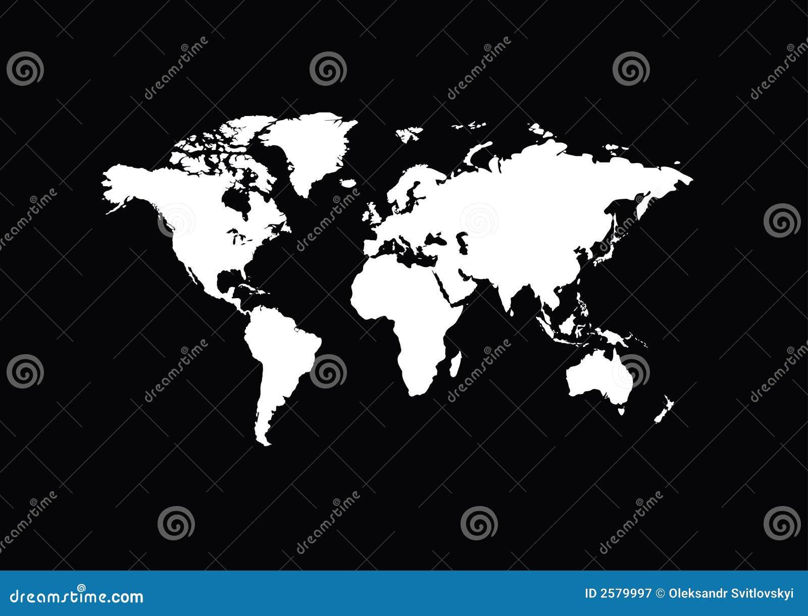 Weiße Karte der Welt