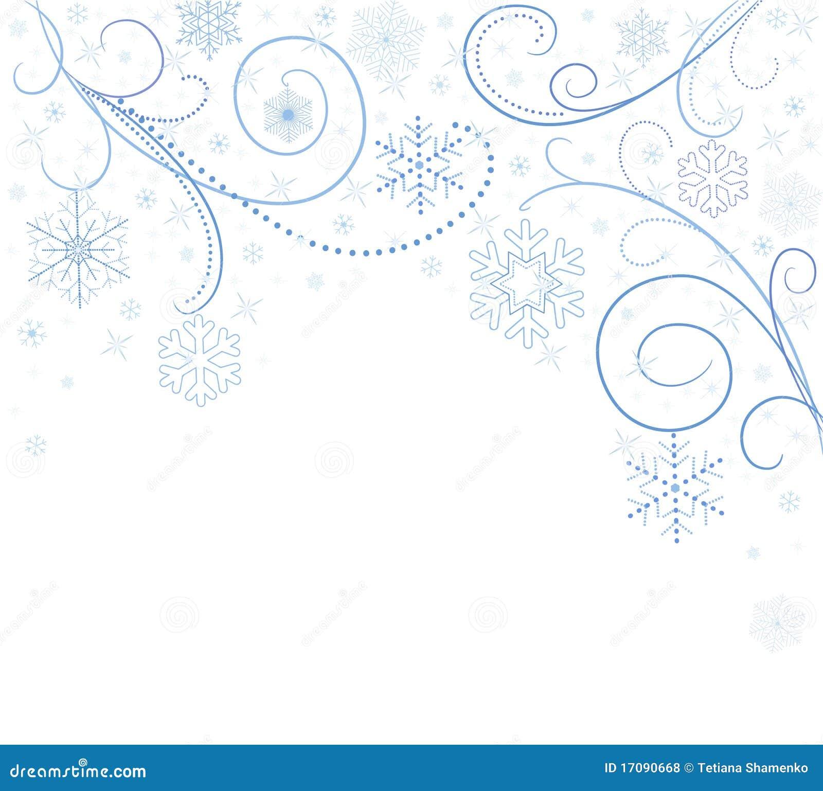 Weiße Karte mit Schneeflocken