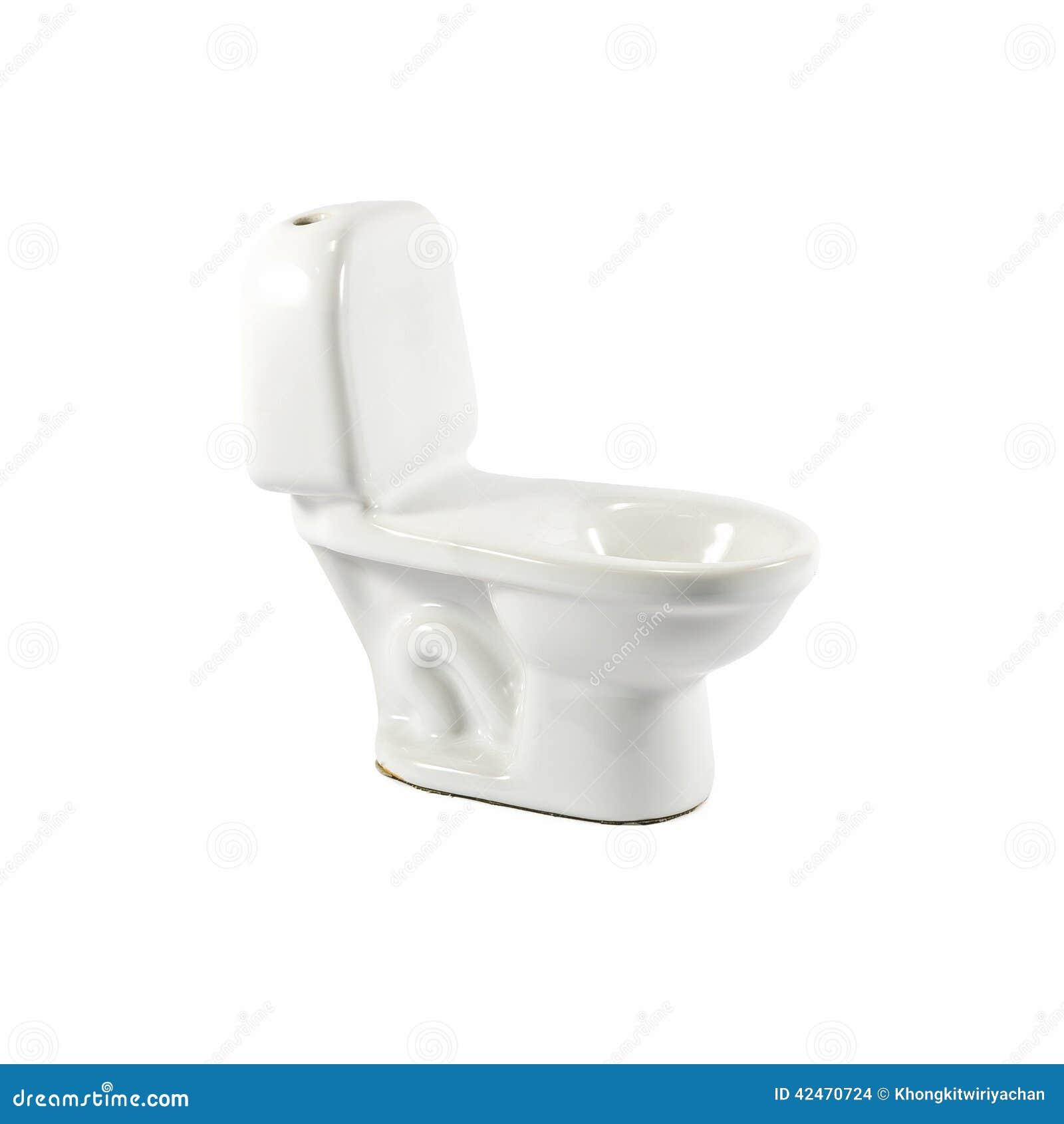 Weiße keramische vorbildliche Toilette