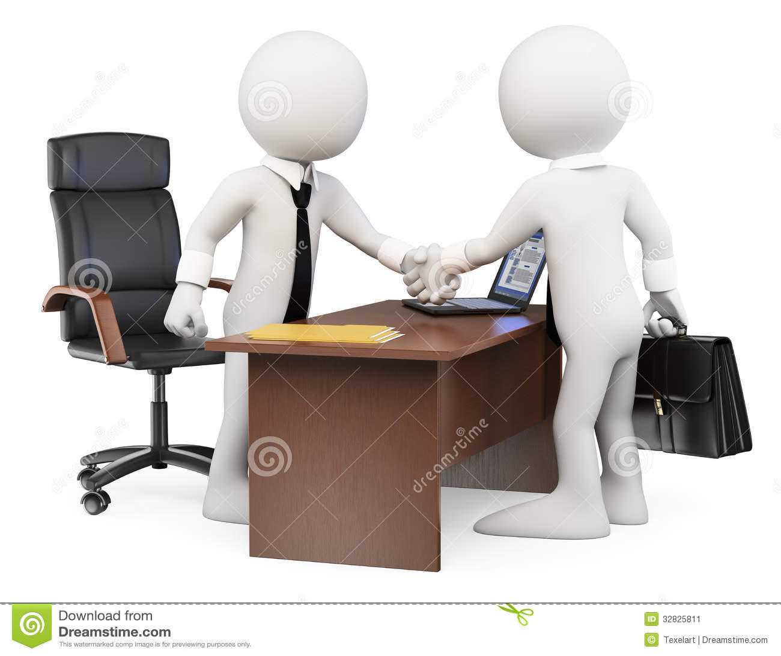 Weiße Leute 3D. Geschäftsvereinbarung Stock Abbildung - Illustration ...
