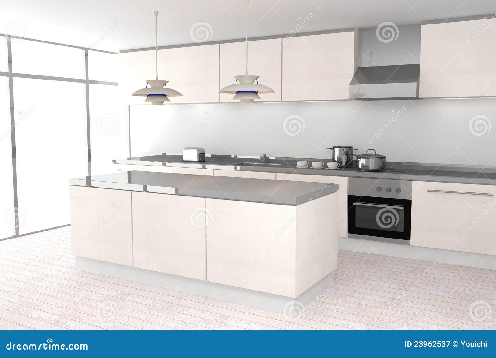 Download Weiße Moderne Küche Stock Abbildung. Illustration Von Küche    23962537